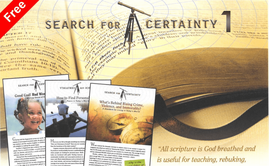 Search for Certainty 1<br>Bible studies by Mark Finley