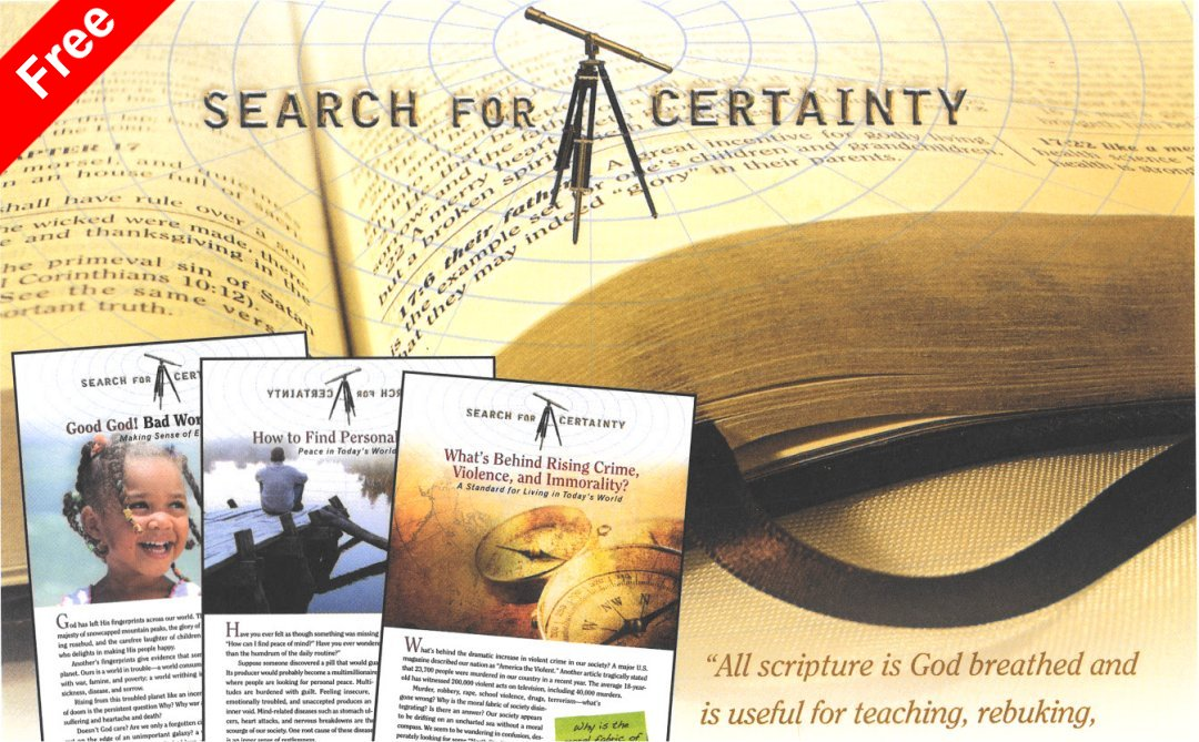 Search for Certainty Online Bible StudiesBy Mark Finley