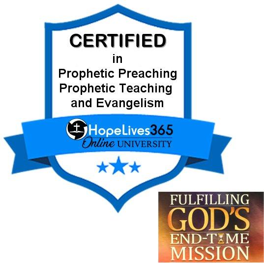 Fulfilling God's End-Time Mission – Digital Certification Badge