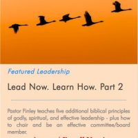 Lead Now. Learn How Part 2