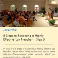 Lay preaching step 5